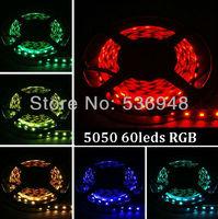 5M 5050 RGB 60leds/M Nonwaterproof Flexible SMD  LED Light Strip  +24 keys IR Remote