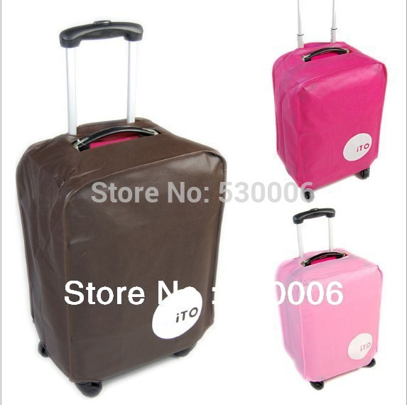 3 Colors 7 sizes Luggage Bag Covers 20 22 24 26 28 29 30 inch Trolley Suitcase Travel Trunk Dirt-Proof Protective Cover 2pcs/lot(China (Mainland))