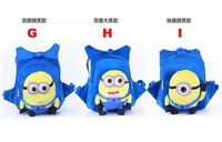 Despicable me plush small double-shoulder  messenger bag mobile phone bag coin purse,Cute school/students 3d cartoon bag