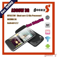 Hot Selling.A309W( 3G )MTK6572W 1.3G Dual core, Satellite Navigation GPS chip built-in,512MB+4GB, support Android Phone.