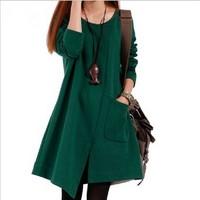 2013 New Arrival Autumn Winter Korean Style Big Size Women Dress