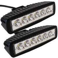 "2pcs 6"" inch 18W LED Work Light Bar Lamp for Driving Truck Trailer Motorcycle SUV ATV OffRoad Car 12v 24v Flood Spot"