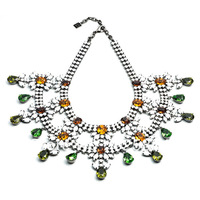 2013 fashion new arrival dannijo Luxury Jewelry WIMBERLY Extravagant flower Crystal Statement dannijo Necklace OEM costume party