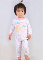 Child baby sleepwear suits,toddler cartoon pajama Retail Childrens cotton long sleeve pajamas sets Children's Christmas Set 1110