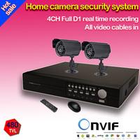 Home HDMI Surveillance Full D1 DVR 480TVL Waterproof Night Vision Camera Kit CCTV Security 4CH Video System