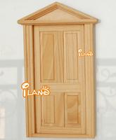 iland 1:12 DOLLHOUSE HOUSEWORK WOODEN EXTRANCE DOOR 4 PANEL
