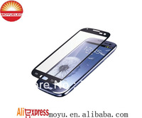 Free shipping Gray/Blue glass For Samsung I9300 Galaxy S3 iii front glass repair parts