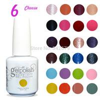 Free shipping delicate color led/uv gel nail polish varnish for the nails set+primer base coat foundation+top coat uv gel