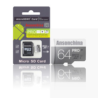 Freeshipping class10 Micro SD HC Transflash TF CARD USB memory Crad+ Free adapter+ White plastic retail box+Gift card Reader!