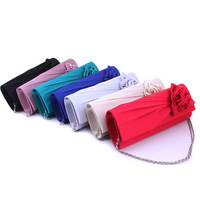 Wholesale Retail Cheap 17 Colors Candy Color Embroidery Sparkly Shoulder Clutch Evening Bag Handbag With 120cm Long Chain