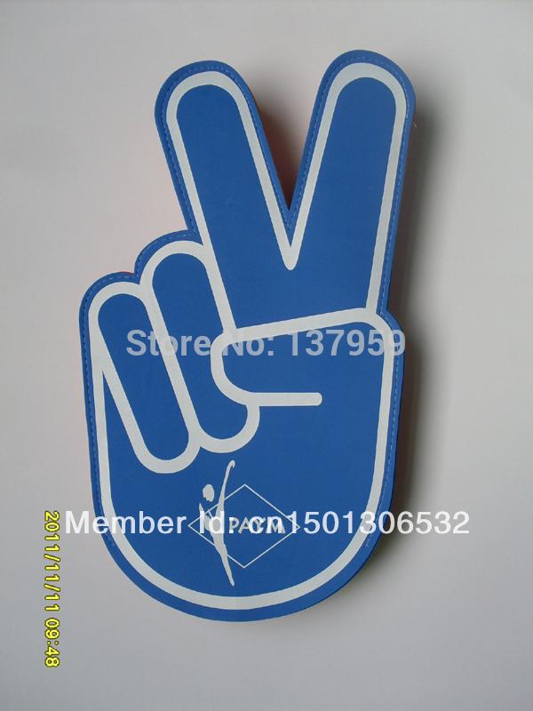small order custom made EVA foam victory cheering hand foam finger(China (Mainland))