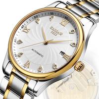 Kassaw men mechanical hand wind military watches men full steel luxury brand dive self hand wind watch diving self-wind watch