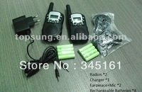 Radio walkie talkie pair T388 talkabout handy talkie 2 way radio 5km  PMR446 talkie w/ LED torch +accessories by Singapore Post