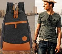 2013 New brand high quality women men canvas travel backpack student school bag mochila bolsas free shipping