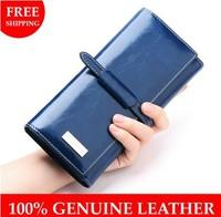 Wallets For Women 2014 Long design Genuine Leather Women Wallet  brand Women leather wallet Clutch female Purse Card Holder