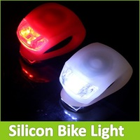 Mini Brillant Waterproof SILICON Bike Bicycle Light Cycling Beetle Warning Set White LED Front Light + Red LED Rear Tail Lamp
