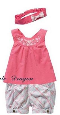 Free shipping, retails boy/girls cute clothes set, T shirt+pants, soft and confortable,1 set/lot--NB161(China (Mainland))
