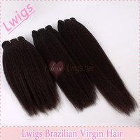 Coarse Yaki 3pcs Brazilian virgin hair Cheap unprocessed lwigs hair product for your nice hair extension remy virgin hair weave