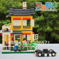 Compatible with LEGO; Enlighten Child educational toys WANGE Villa House 390 PCS Assembles Particles Block Toys;FREE SHIPPING