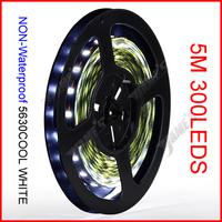 ( 100 reel/lot ) 5M/Reel 12V 5630 Cool White Color SMD NON-Waterproof Flexible LED Strip Lights 300 LEDs 60 LEDs/M Wholesale