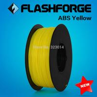 Flashforge 3D Printer ABS  Yellow filament, diameter 1.75mm .