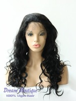 High Quality human hair Full lace wig brazilian hair for black women, free shipping