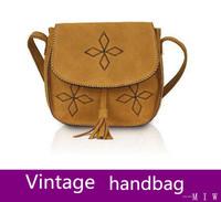 new fashion women cotton handbags vintage retro small shoulder bag cute tassel messenger bolsas femininas brand crossbody bags