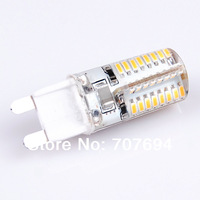 G9 5W 400-450LM 64x3014SMD 3000-3500K  Warm White and White Light Resin LED Corn Bulb (220V)