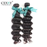Cexxy Hot Sale Brazilian Natural Wave Virgin Hair 2PCS/LOT Brazilian Human Hair Weaves Bundles Free Shipping