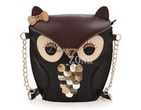 Wholesale 2pcs/lot Women's Synthetic Leather Handbags Shoulder Handbag  Owl Pattern Holder Cover Chain Bags 17782
