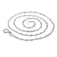 necklaces & pendants sterling silver necklaces 2013 women Platinum pendant with chain 925 pure silver 18k platinum wave chain 3