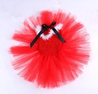 Baby girls Christmas Xmas costume  red tutu dress Girls Christmas costume Red feather santa party dress Free shipping