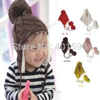 children accessories baby & kids Twist wave inner velvet bomber caps hats Winter bonnet for girls boys