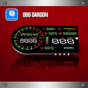 Large Screen OBD HUD Head up Display Digital Tachometer Temperature Automotive Trip Computer Fuel Meter Universal Edition