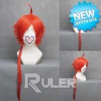 70cm Long gintama-kamui Orange Red Anime Cosplay wig COS-121A