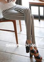 2014 8 colors Fashion  Vertical Stripe Legging,Best flexibility Casual Women Vertical Stripes Beautiful Leggings Pants Outdoor