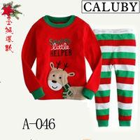 2013 new arrival merry christmas baby pajamas long sleeve Xmas santa series children's pyjamas suit kid's sleeping wear 6pcs/lot
