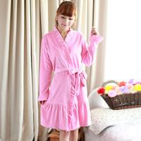 New Fashion Full Sleeves Velvet Women Pajamas Discount Warm Female Clothing Chrismats Robe Woman Nightgrown Set Pajama