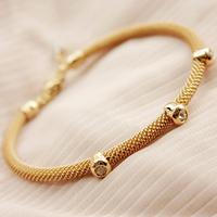 Fashion Fine Brief Mesh 18K Gold Bracelet Love Gift
