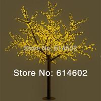 2M 69W yellow/Green/red LED cherry blossom light 1152 LEDS beautiful green led tree light