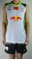 New 2013 Li-Ning Badminton men's Free LI-NING CHINA'S National Team badminton shirt+shorts LIN DAN badminton  shirt