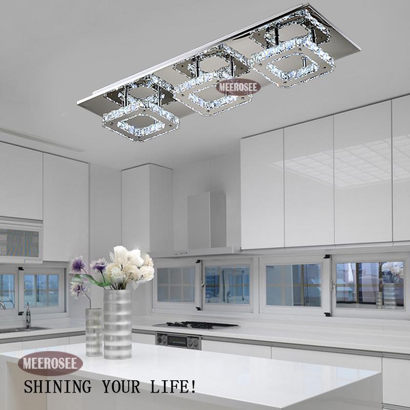 moderno led de cristal de diamante de luz de techo de montaje de la lámpara de cristal para pasillo corredor de envío rápido