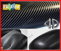 1 pc 1.52*0.5M Black 4D carbon fiber vinyl film / 4D carbon fibre sticker / 4D car sticker with bubble free FREESHIPPING TTT