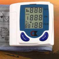 1PCS health monitors  Wrist Cuff Arm Blood Pressure Digital LCD Monitor Heart Beat Meter health care Machine