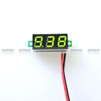 "1PCS Free Shipping New 0.28"" DC 3.5-30V Super Mini Digital Green LED Car Voltmeter Voltage Volt Panel Meter battery monitor"