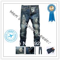 28-36#KPDG0663,2013 Fashion Famous Brand Man Jeans Men,High Quality Ripped Jeans For Men,Dark Color Cotton Denim True Jeans Men