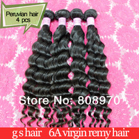 Peruvian Virgin hair weave 4bundles deep wave grade 5A queen hair products unprocessed human hair DHL free shipping