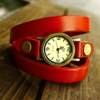 New Arrival Punk Cow Leather Watches, Alloy Case 100% Excellent Quality Wristwatches, FreeShipping