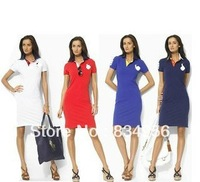 2013 spring one-piece dress Women polo one-piece dress slim all-match women's skirt S/M/L/XLfree shipping