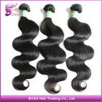 "EVAS Hair Tangle Free Virgin Unprocessed Indian Hair Body Wave Mixed Length 12""-30"" Natural Human Hair 4pcs/lot Free Shipping"